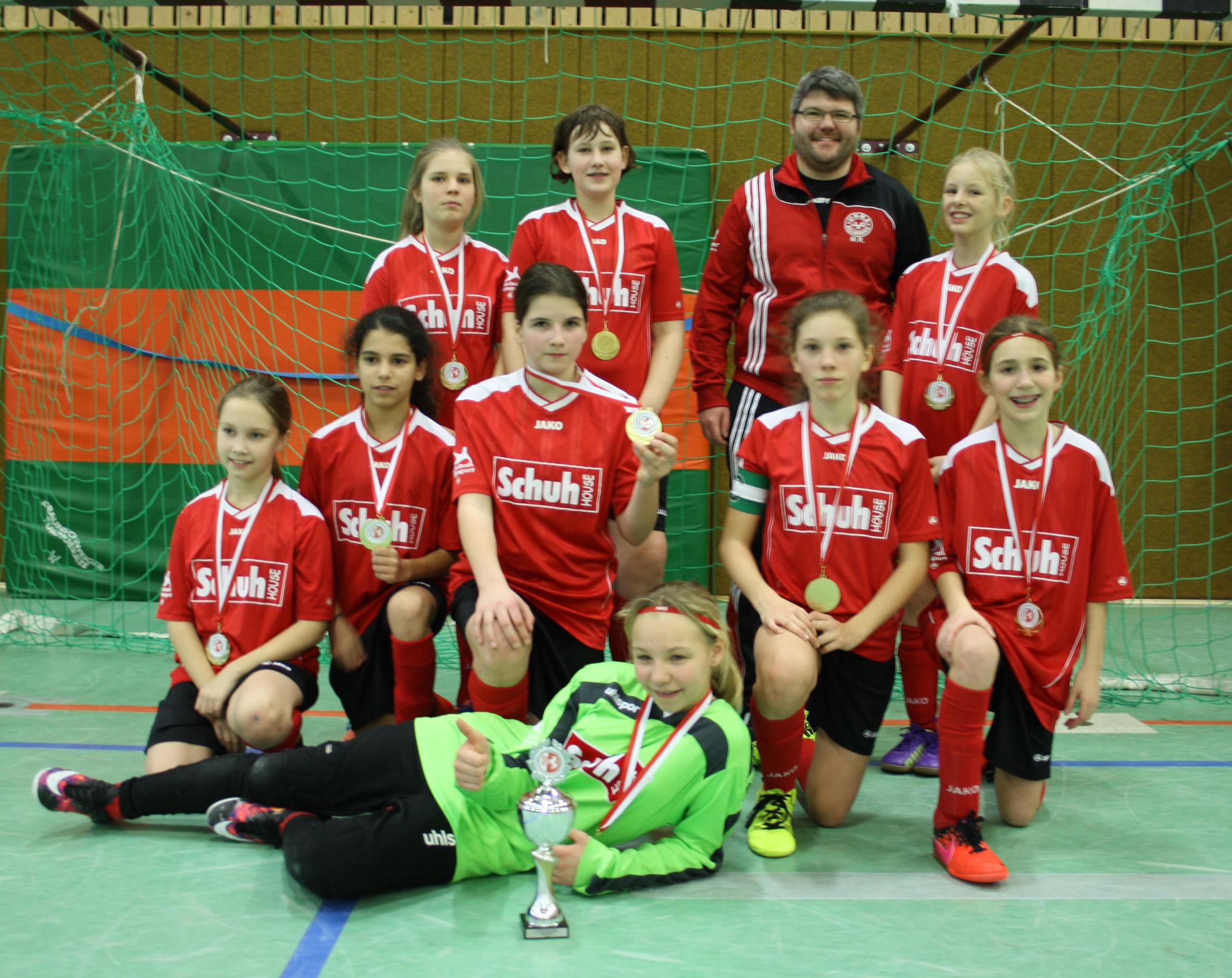 D-Juniorinnen mit der Bronzemedaille